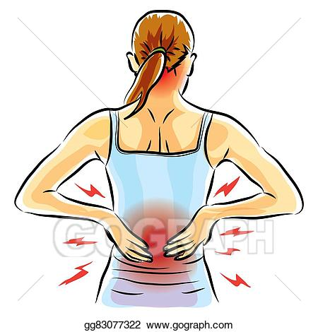 Stock illustrations back gg. Hurt clipart physical pain
