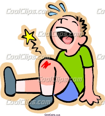 Hurt clipart scraped knee. Collection of free download