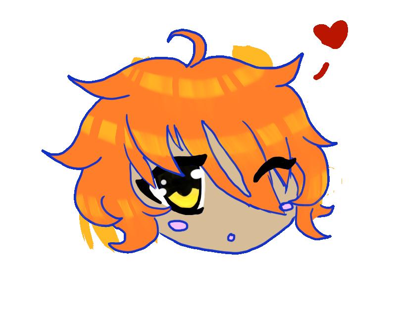 Hurt clipart throb. Orange hair floaty face