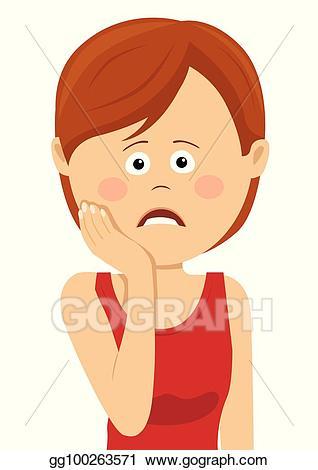 Hurt clipart tooth ache. Eps vector teeth problem