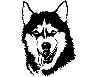 Husky clipart. Head silhouette at getdrawings