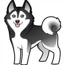 Dog jpg. Husky clipart