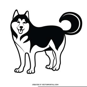 Alaskan free images at. Husky clipart