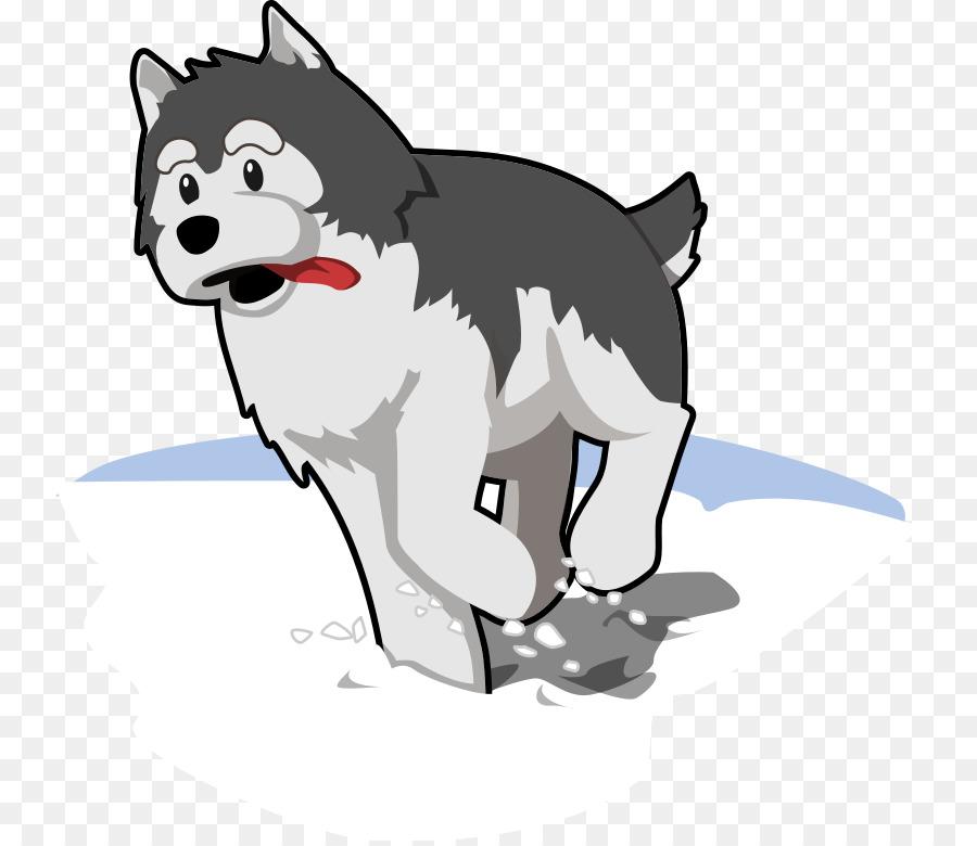 Husky clipart animal alaska. Cat and dog cartoon