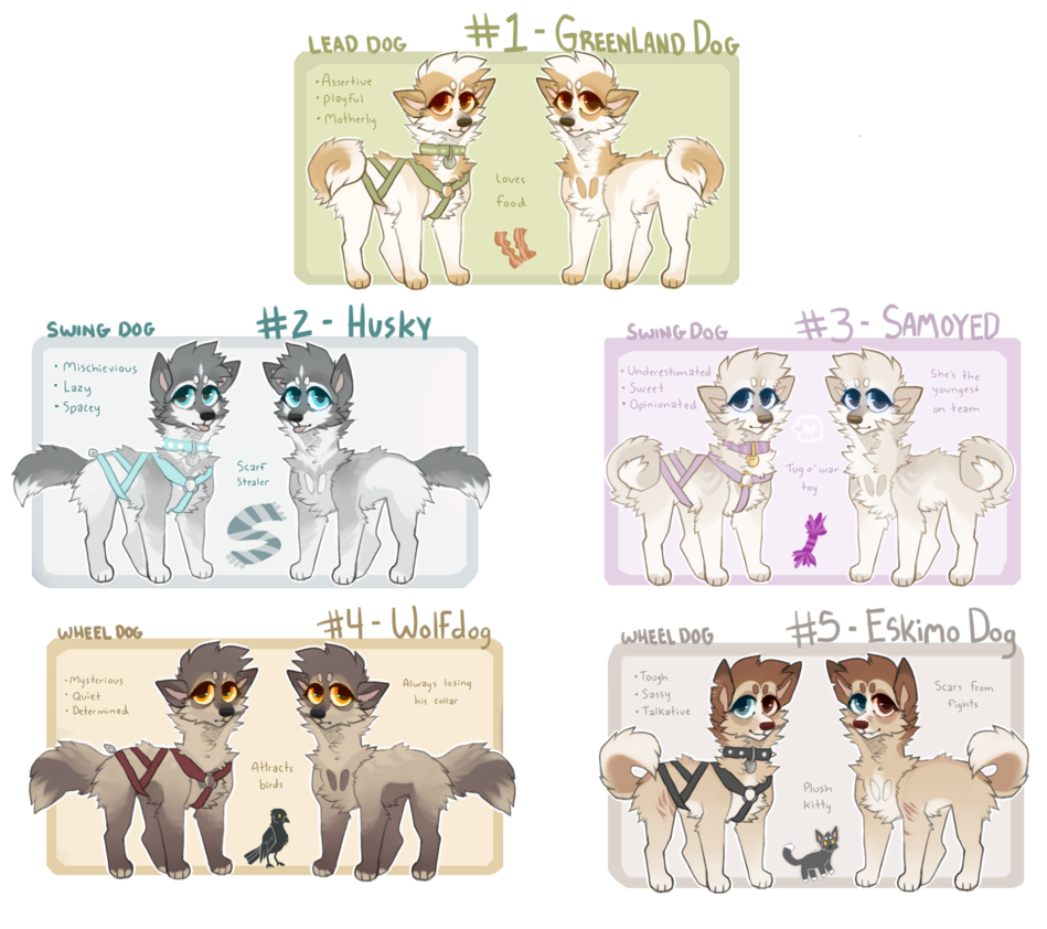 Sled dogs all closed. Husky clipart big dog
