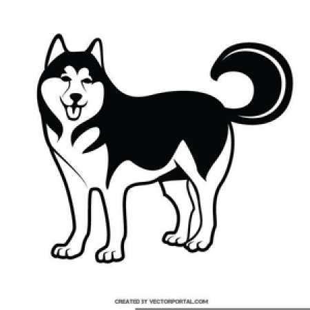 Husky clipart black and white. Free download on webstockreview