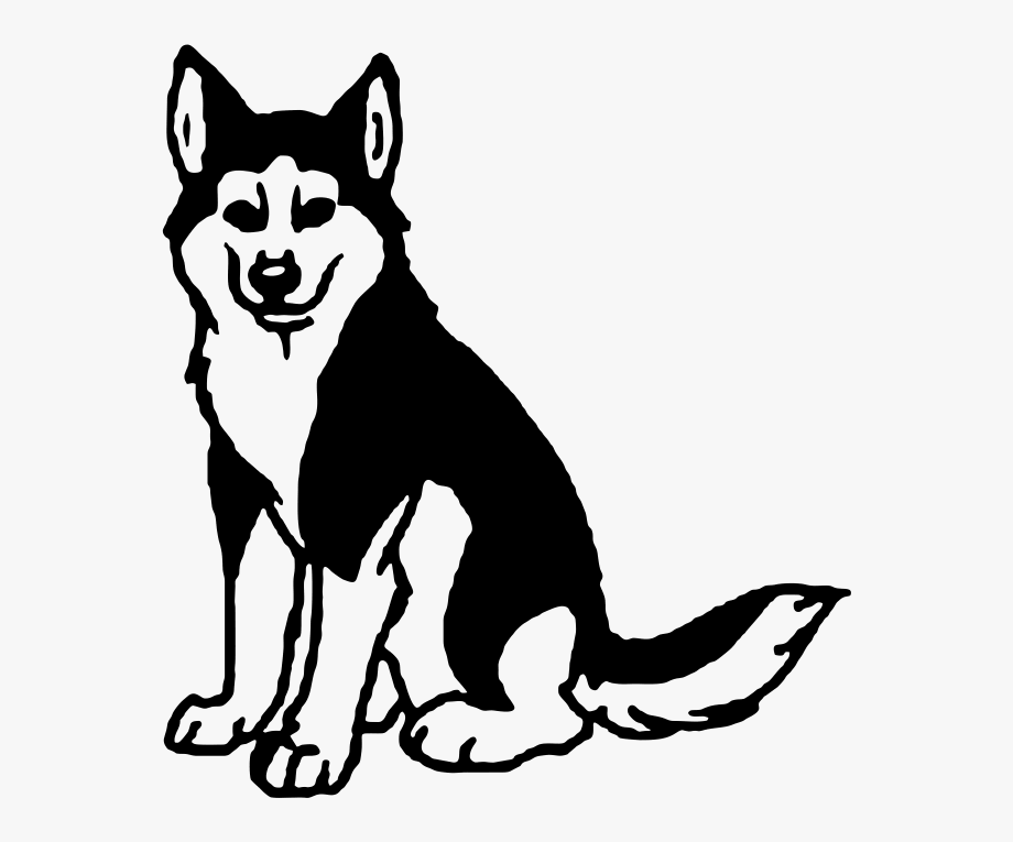 Siberian library cliparts license. Husky clipart black and white