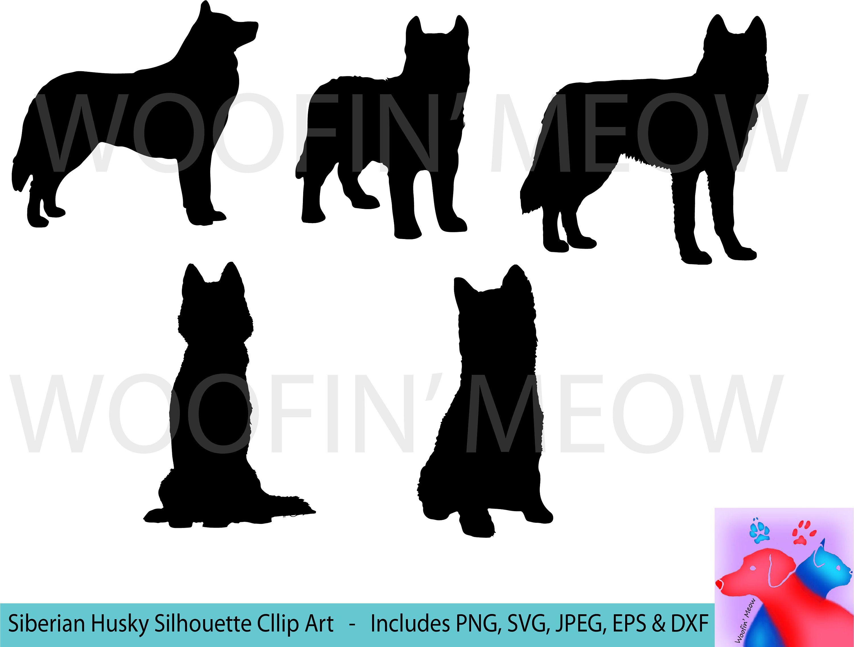Siberian svg silhouette dog. Husky clipart canine