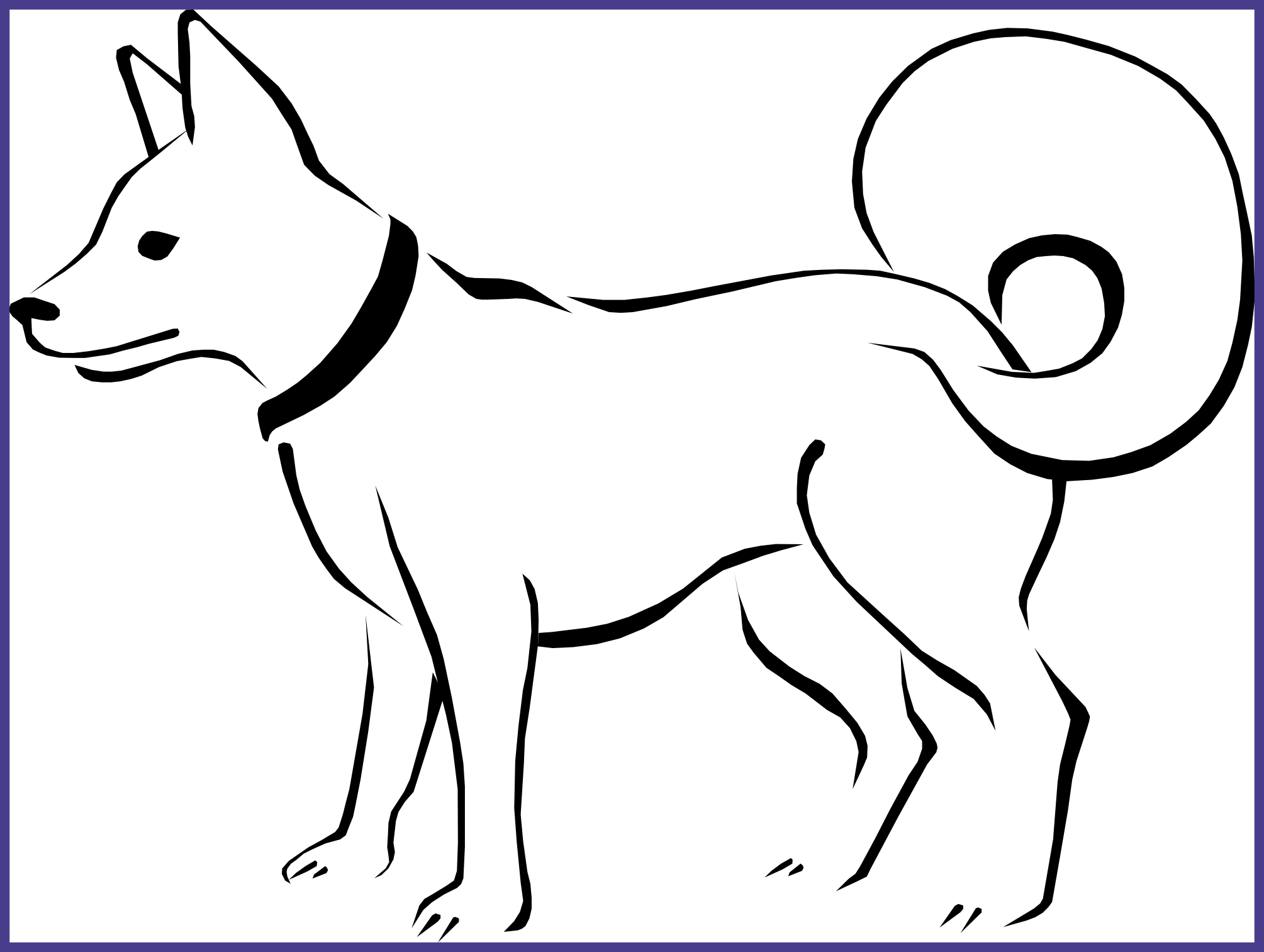 Husky clipart coloring page. Awesome pages dog for