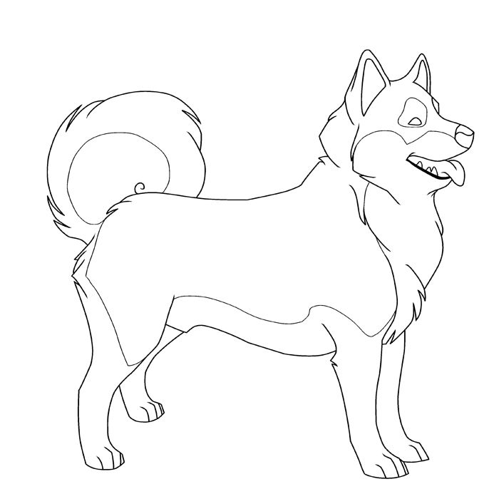Free printable pictures to. Husky clipart coloring page