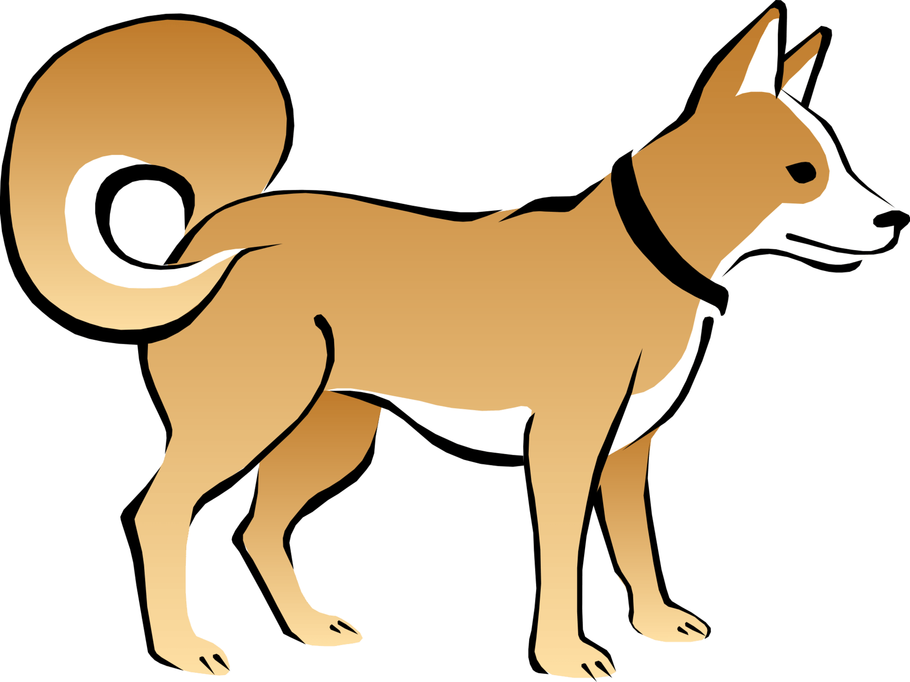Husky clipart cute. Yellow cliparts many interesting