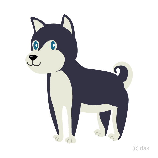 Husky clipart cute. Siberian free picture illustoon