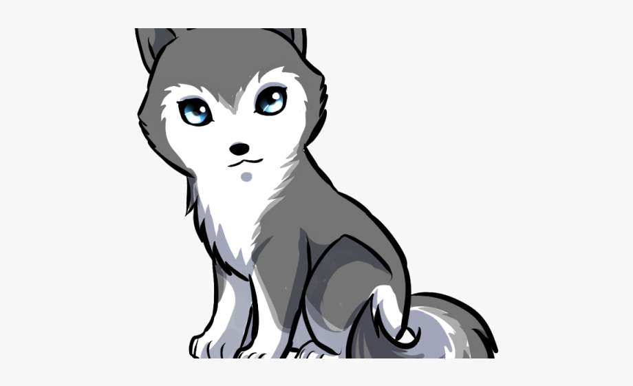 Husky clipart cute drawing. Drawn anime easy free