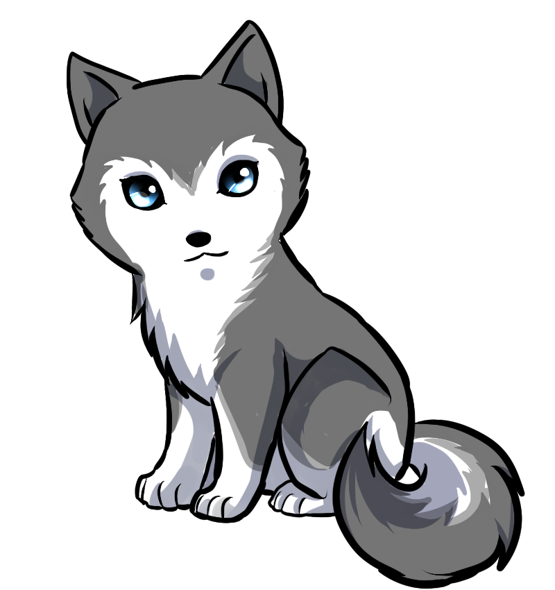 Husky clipart cute drawing.  collection of high