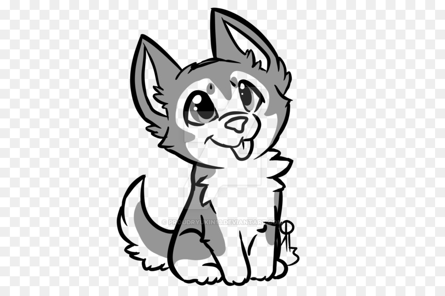 Free download best . Husky clipart cute drawing