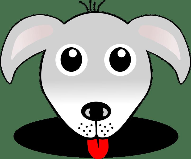 Cartoon image dog imaganationface. Husky clipart face