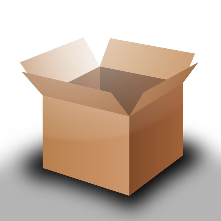 Husky clipart file. Open cardboard box png