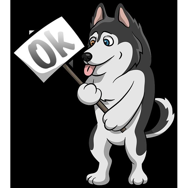 Husky clipart gray dog. Huskymoji emoji stickers by