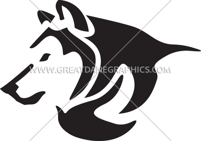 Production ready artwork for. Husky clipart head silhouette