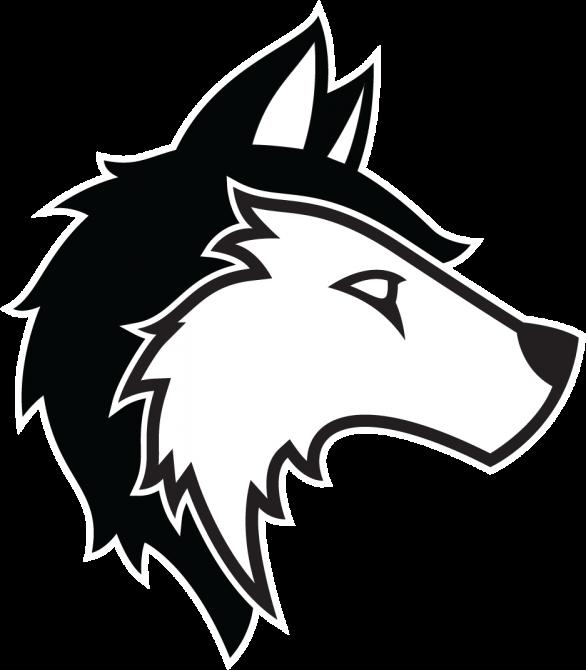 Wolf clipart husky. Siberian gray logo clip