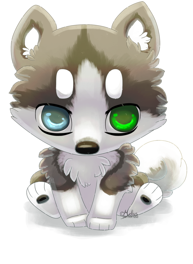Husky clipart huskey. Chibi by mydlas on