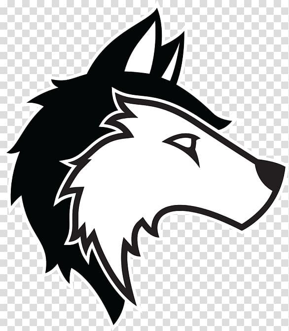 Husky clipart logo. Wolf siberian gray transparent