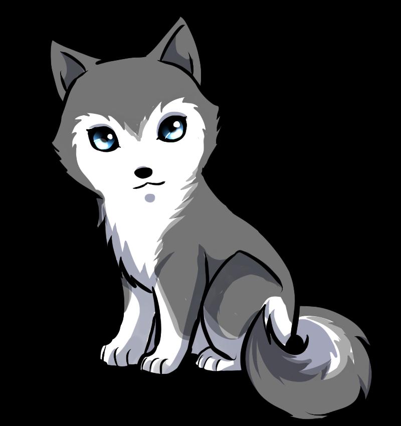 Husky clipart logo. Siberian puppy anime drawing