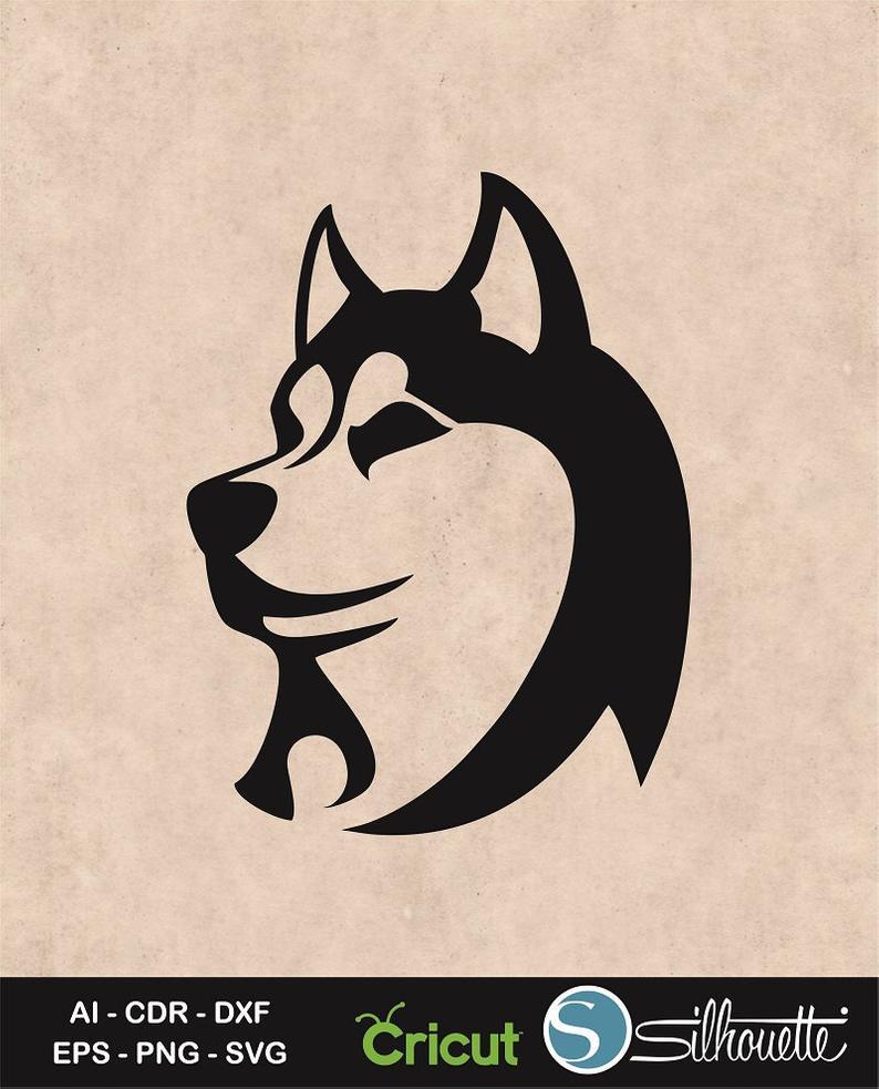 Siberian svg silly dog. Husky clipart logo