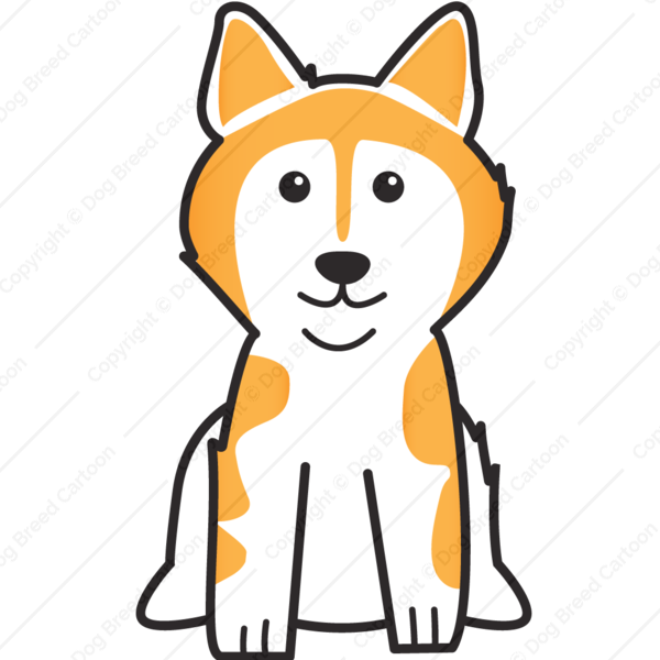Alaskan orange edition dog. Husky clipart malamute