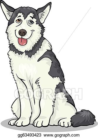 Clip art vector or. Husky clipart malamute