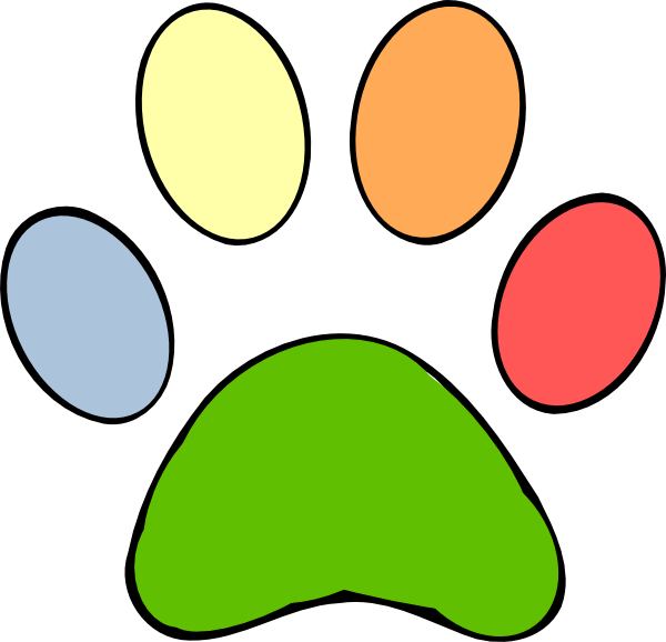 R clipart colorful. Paws royalty free frames