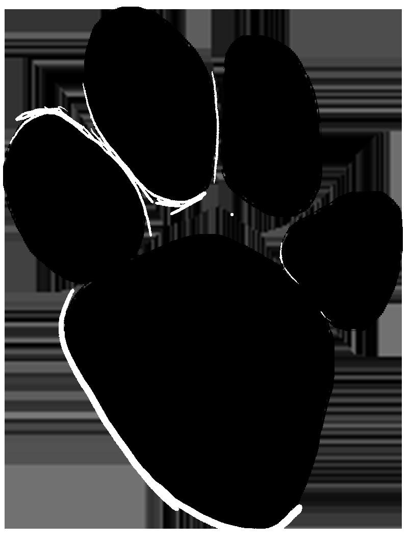 Pawprint clipart logo. Paw prints hyena print