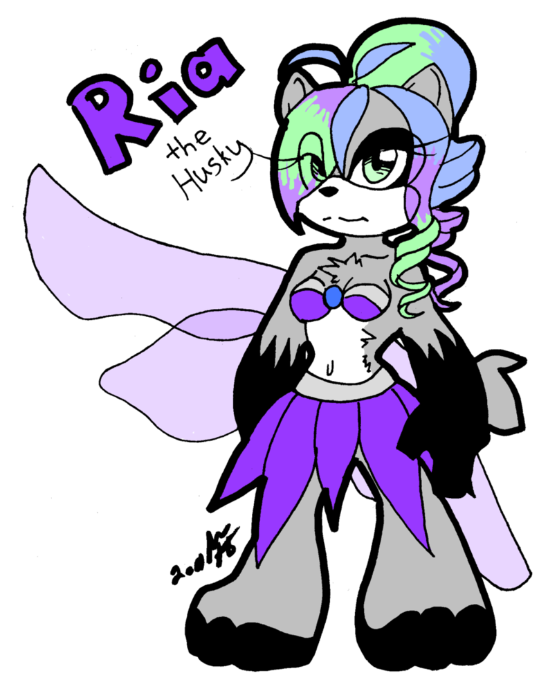 Husky clipart purple. Ria the by maddie