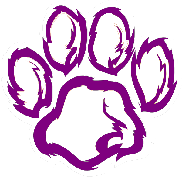 Cool wolves tiger paw. Husky clipart purple