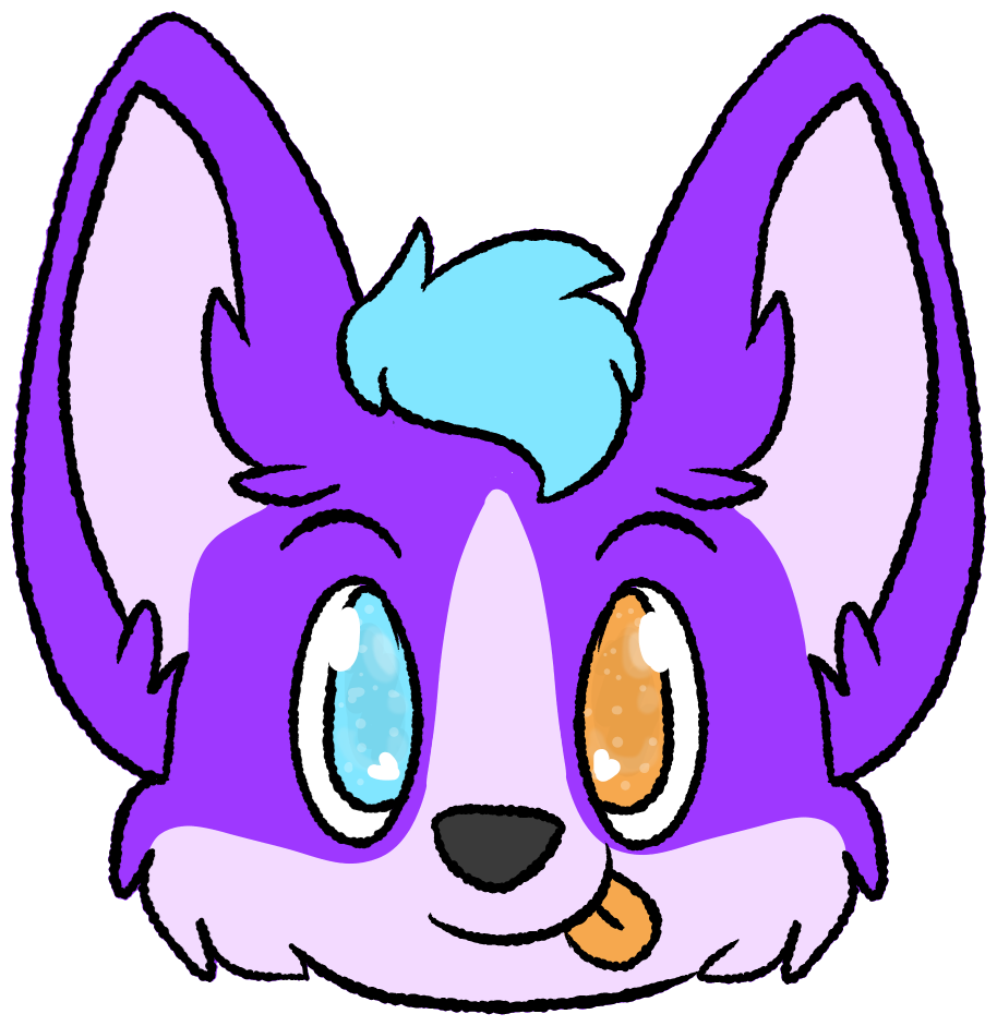 Husky clipart purple. Purpy sticking tongue by