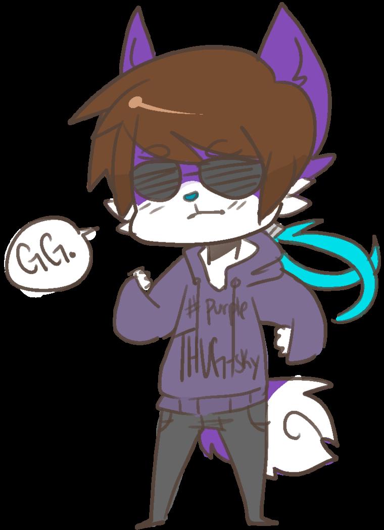 Husky clipart purple. More like thug sky