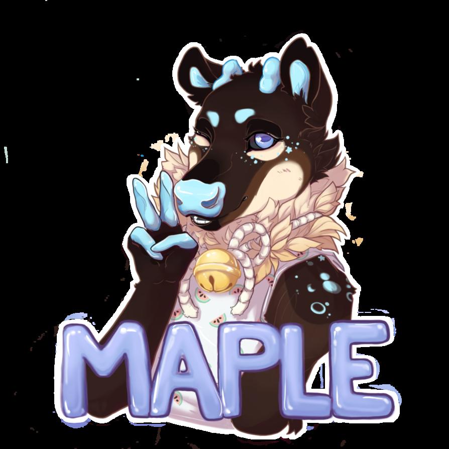 Maplebadge by pancates on. Husky clipart siberian husky