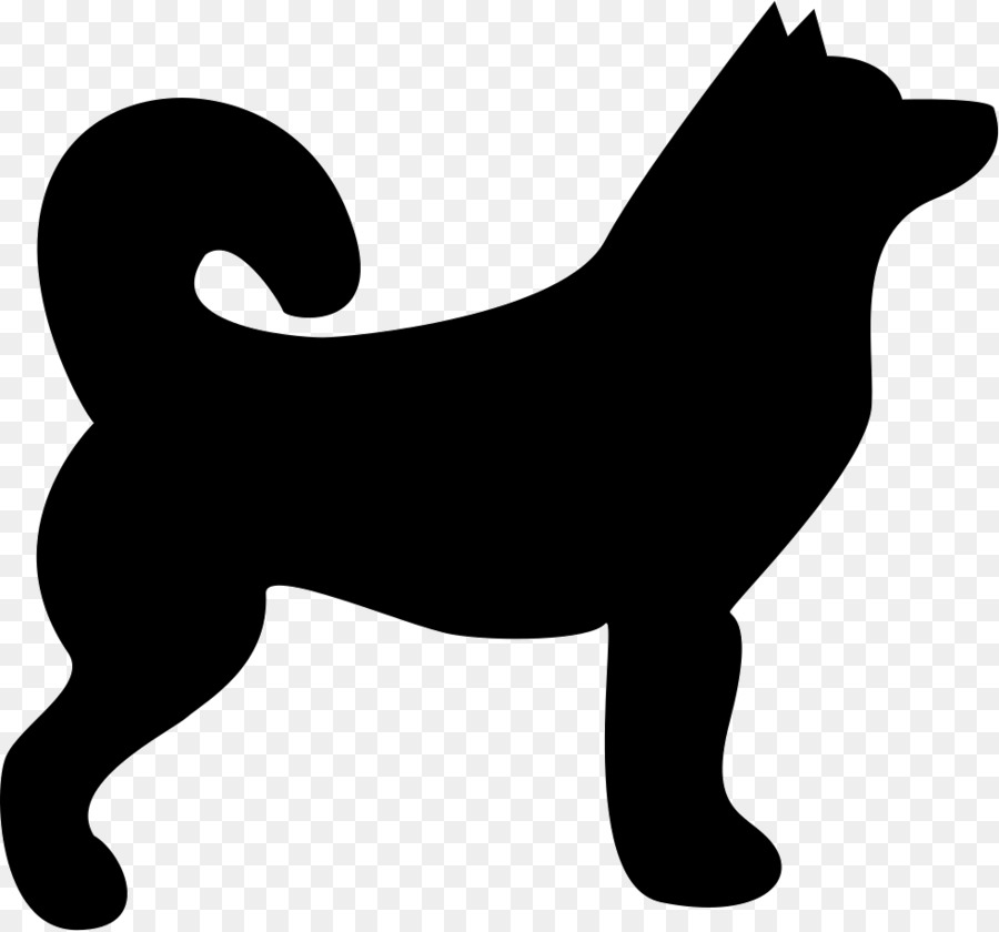 Husky clipart silhouette. Black line background dog
