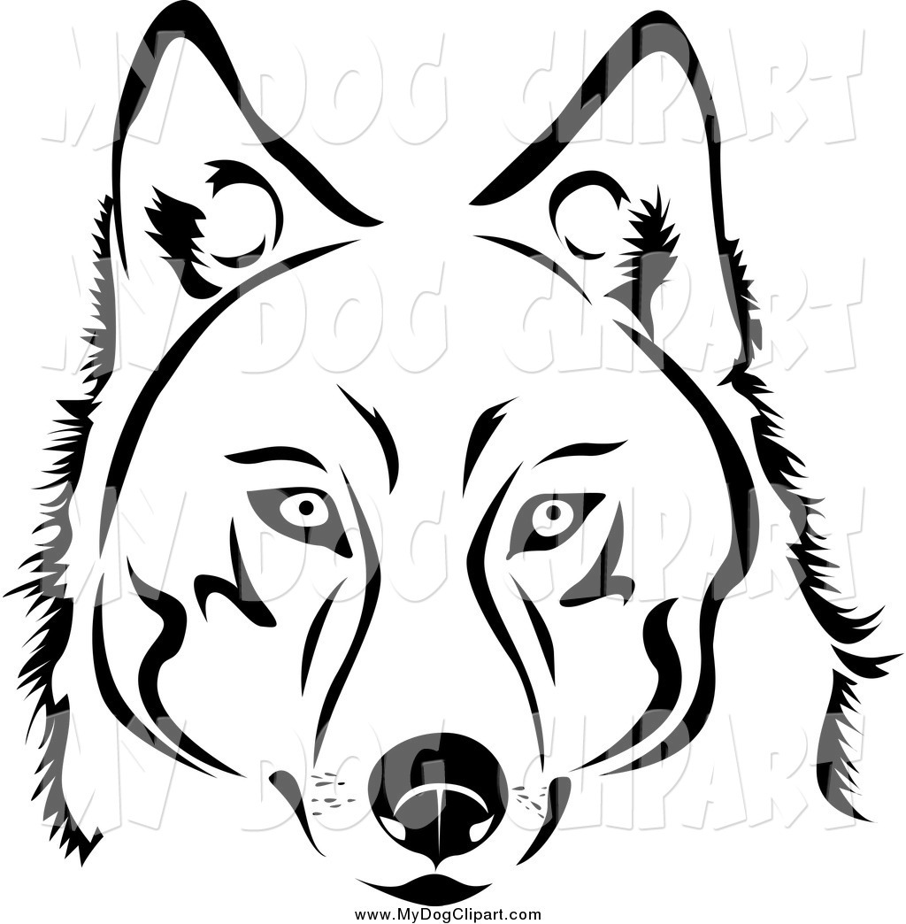 Husky clipart simple drawing. Dog free download best