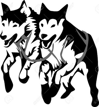 Free team . Husky clipart sled dog