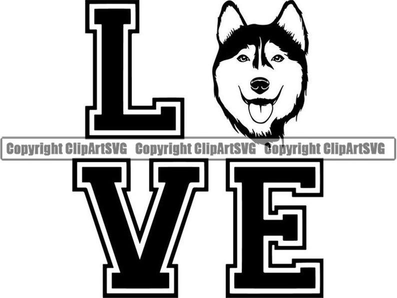 Siberian love happy sled. Husky clipart snow dog