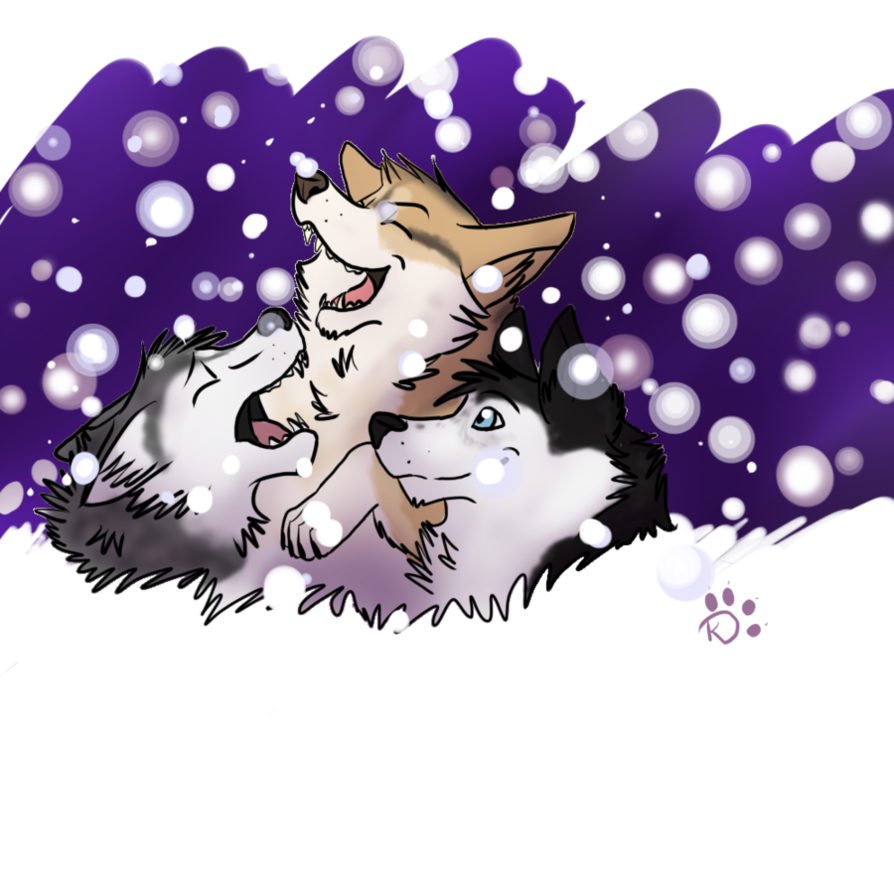 Gone to the dogs. Husky clipart snow dog
