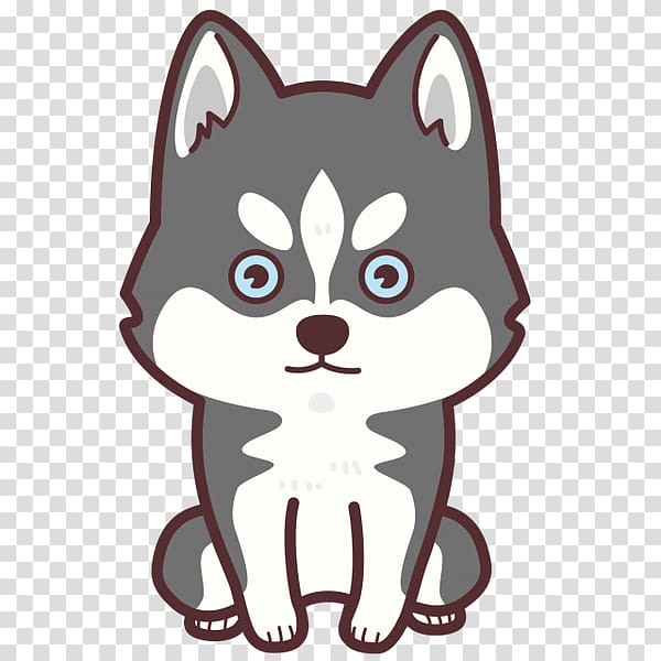 Husky clipart transparent background. Whiskers siberian puppy st