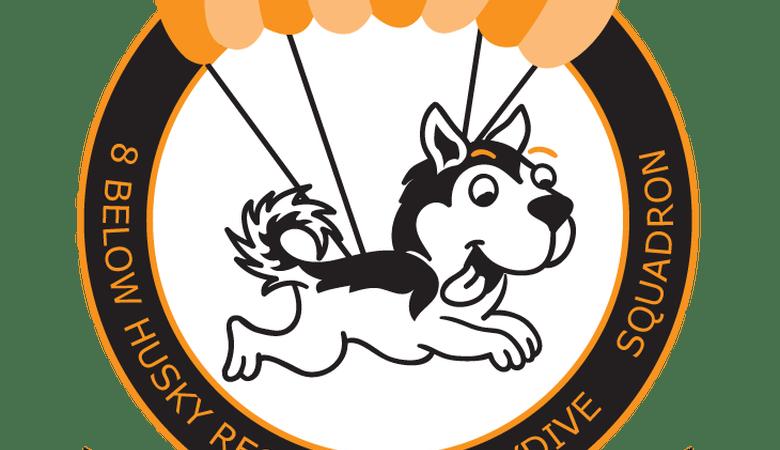 below skydive squadron. Husky clipart vector