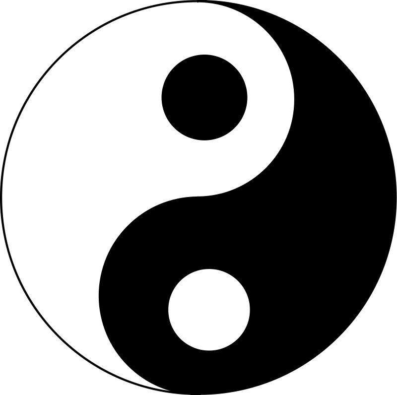 Yin yang clip art. Husky clipart vector