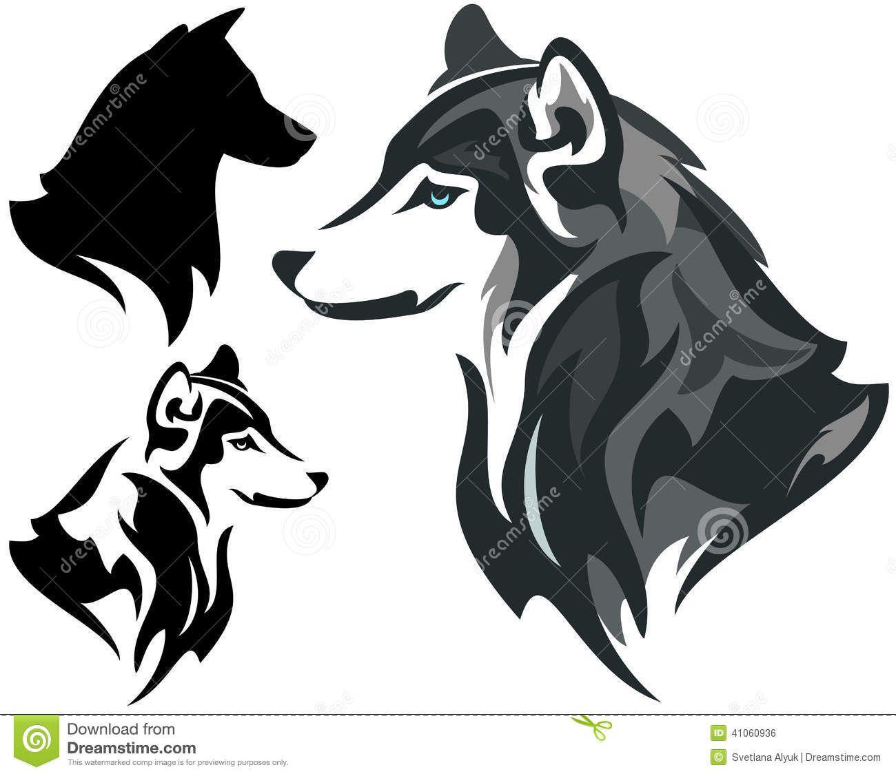 Husky clipart vector. Stock illustrations vectors