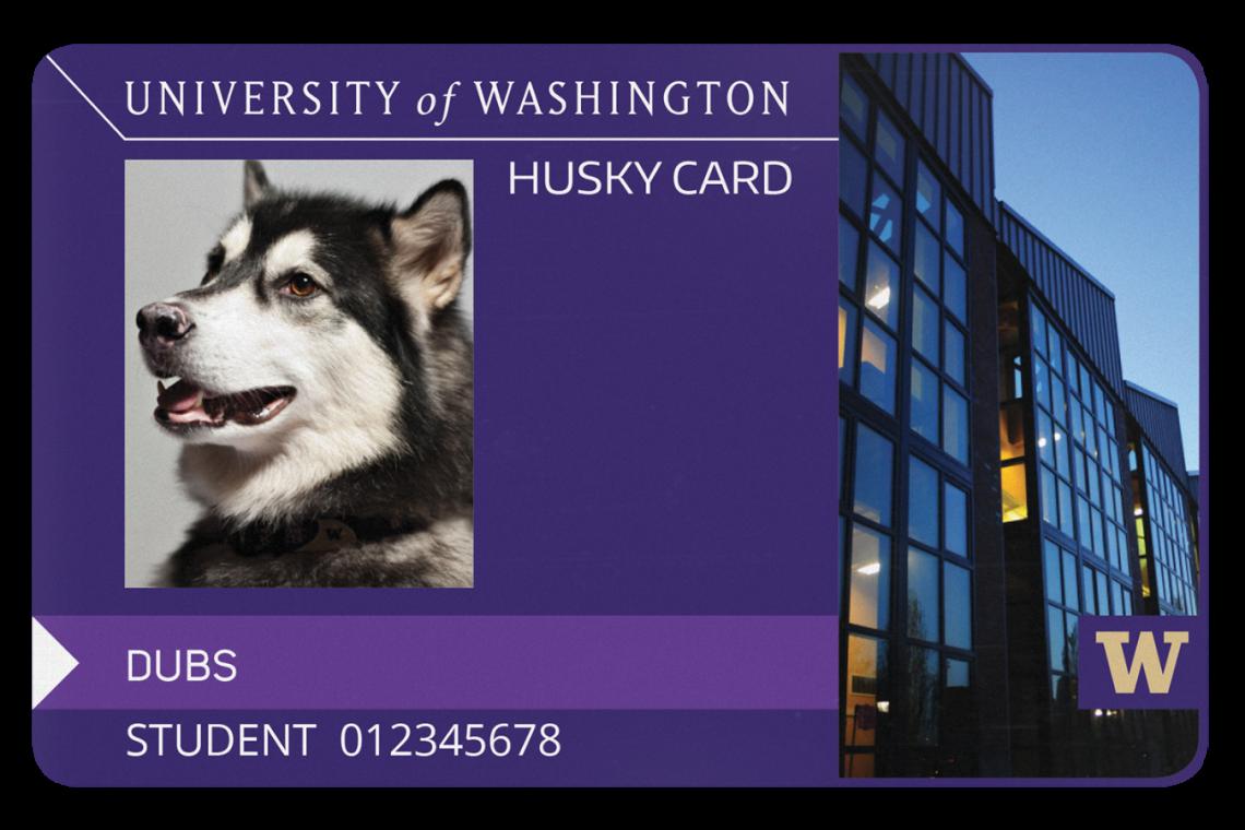 Husky clipart washington university. Uw tacoma card services