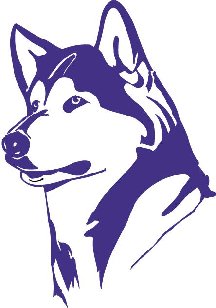 Purple huskies logo carsyn. Husky clipart washington university