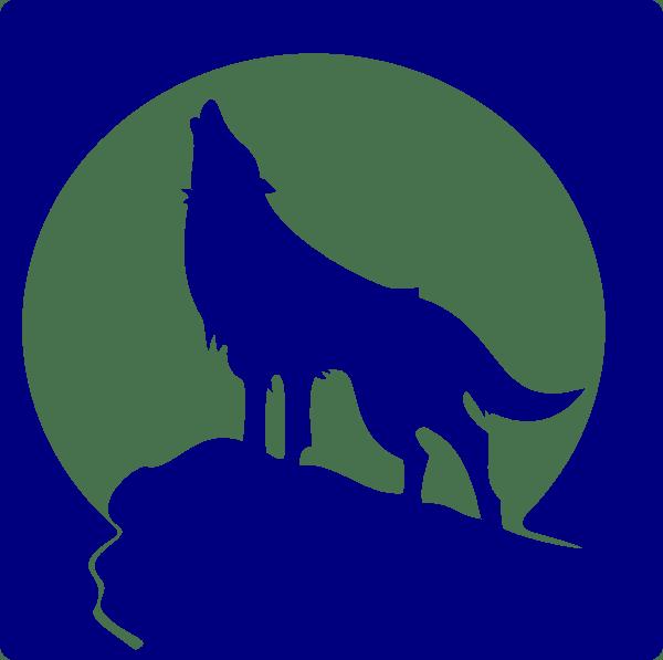 Husky clipart wolf. Logo blue howling alternative