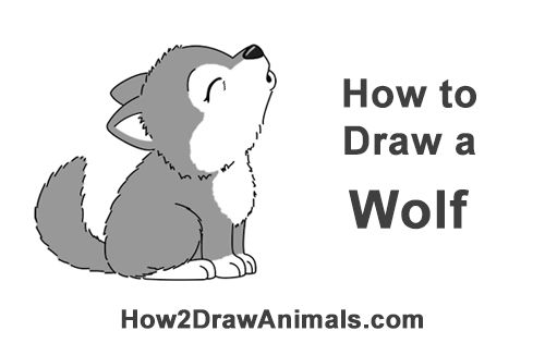 Wolf clipart wolf pup. Draw a cartoon bat